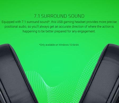 หูฟัง Razer Kraken X USB Headphone เสียงดี