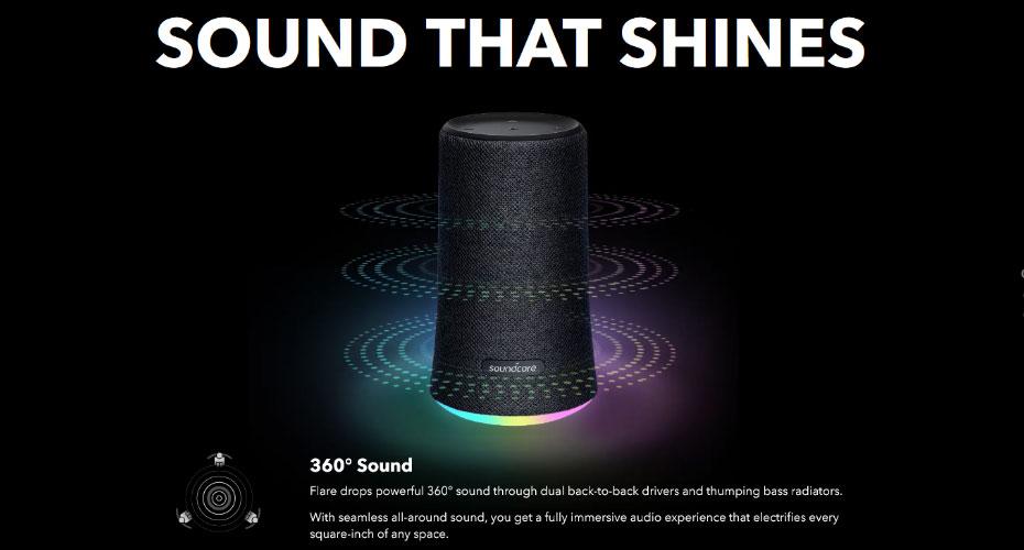 ลำโพงบลูทูธ Anker Soundcore Flare Bluetooth Speaker ซื้อ