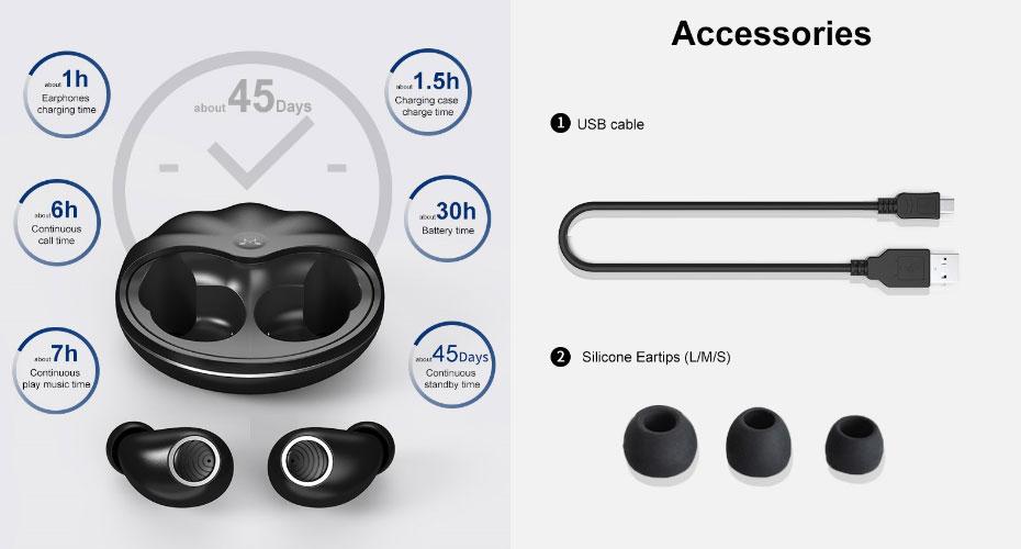 หูฟังไร้สาย SoundMagic TWS50 True Wireless ขายดี