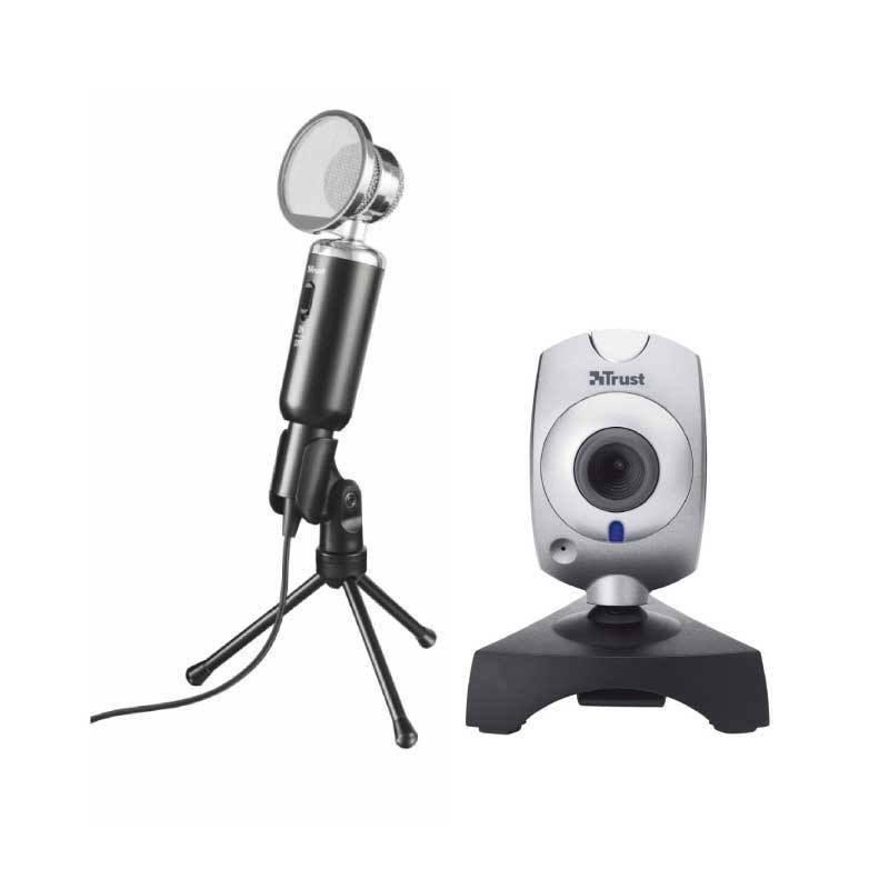ชุดเล่นเกม Trust Madell Desktop V.2 Microphone + กล้อง Trust Primo Webcam