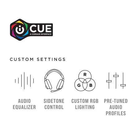 หูฟังไร้สาย Corsair Void RGB Elite Wireless Gaming Headset ซอฟต์แวร์