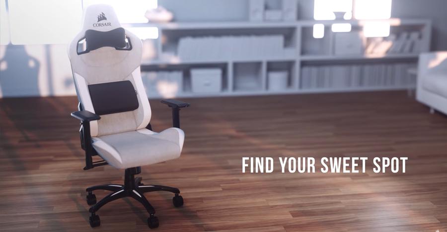 เก้าอี้เล่นเกม Corsair T3 Rush Gaming Chair สี