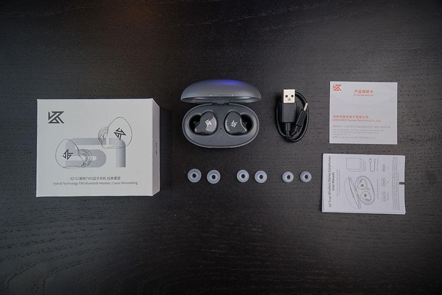 หูฟังไร้สาย KZ S1 True Wireless อุปกรณ์