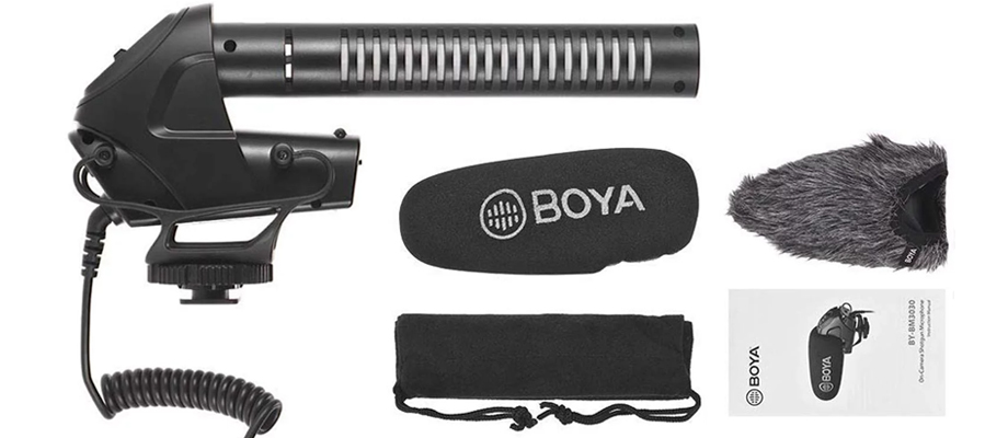 Boya BY-BM3030 Shotgun Microphone ในกล่อง