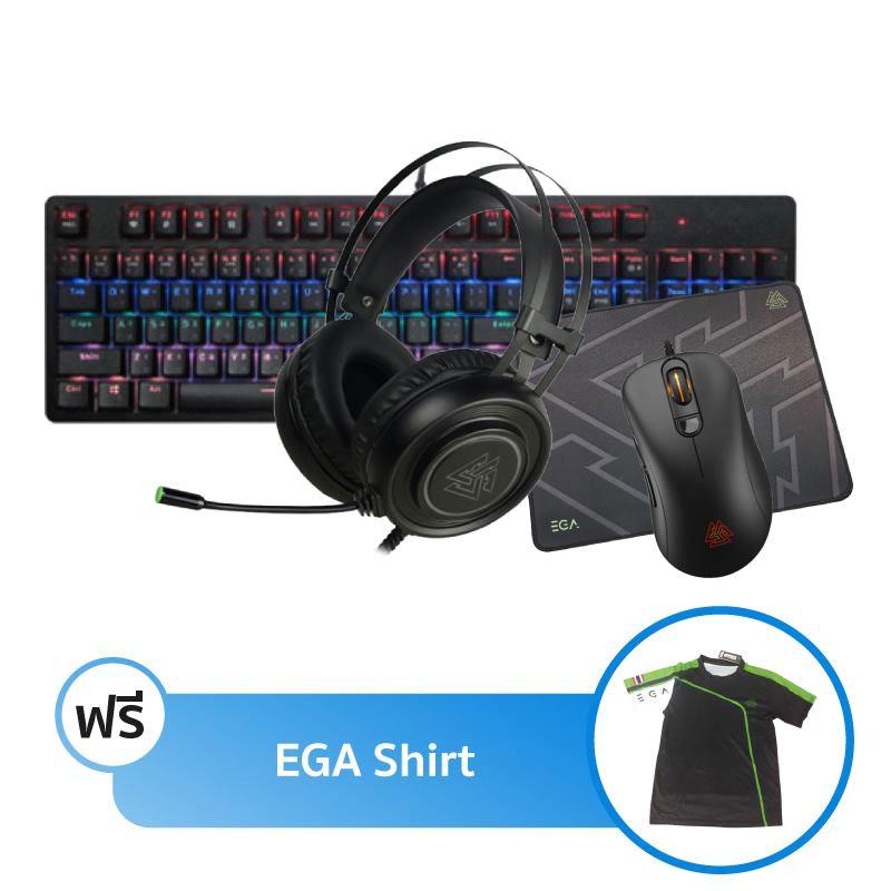 ชุดเล่นเกม EGA K2 + M2 + H3 + Mouse Pad M2