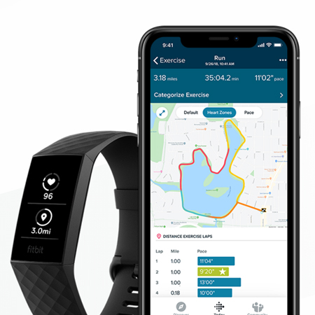Fitbit Charge 4 Fitness Tracker ราคา
