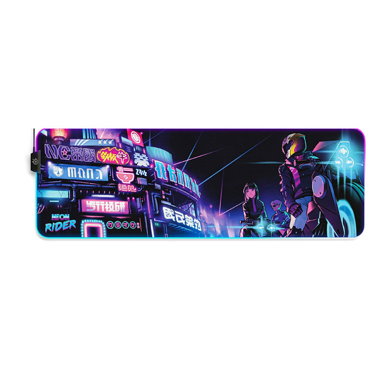 แผ่นรองเมาส์ SteelSeries QcK Neon Rider Edition Cloth XL Gaming Mouse Pad