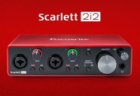 การ์ดเสียง Focusrite Scarlett 2i2 3rd Gen รีวิว