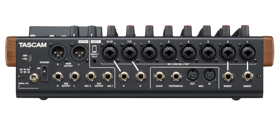 Tascam Model 12 Integrated Production Suite Mixer การเชื่อมต่อ