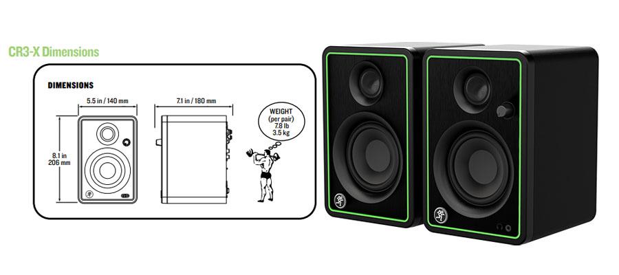 ลำโพง Mackie CR3-X Speaker สเปค