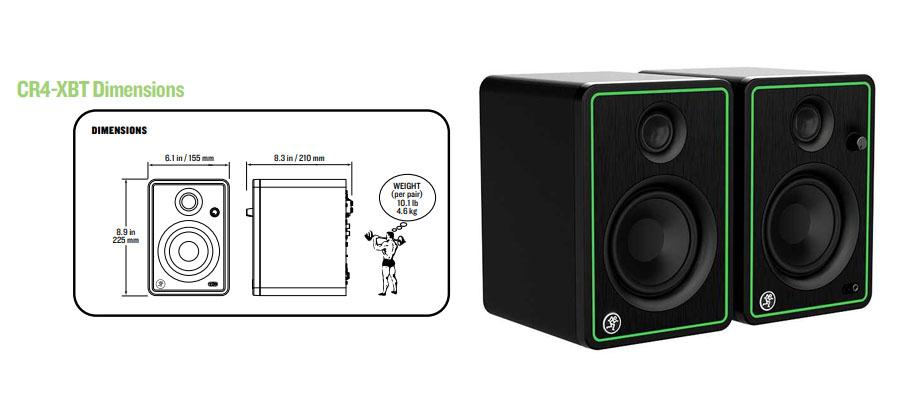 ลำโพง Mackie CR4-X Speaker สเปค