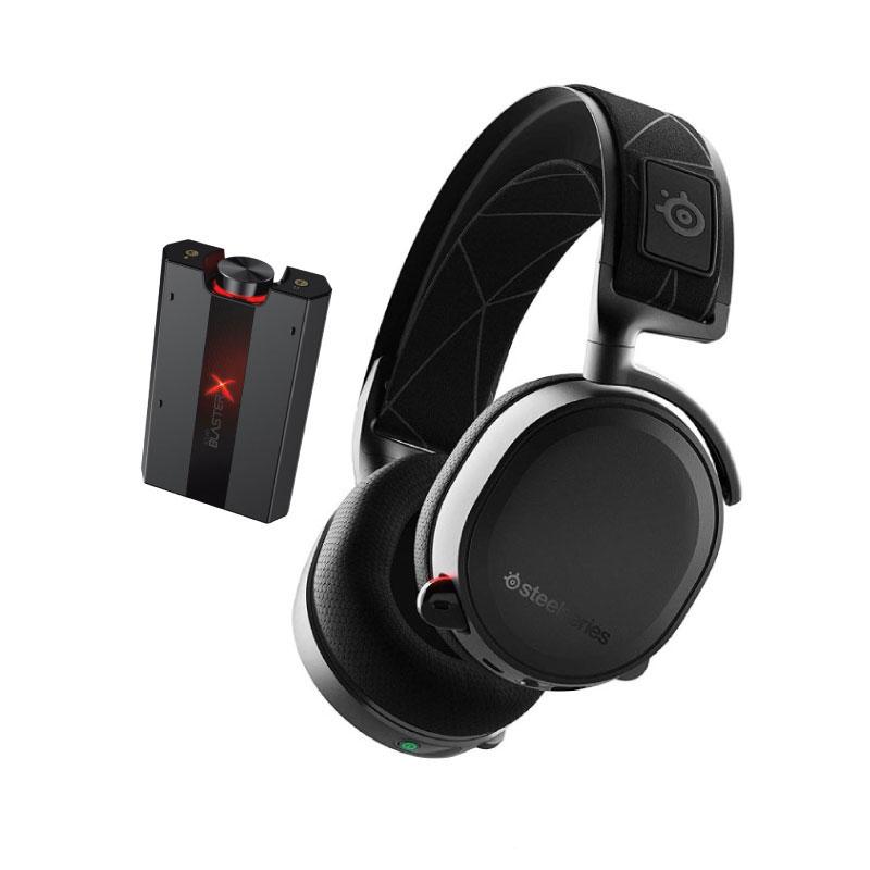 ชุดหูฟังเล่นเกม SteelSeries Arctis 7 7.1 + Creative G5