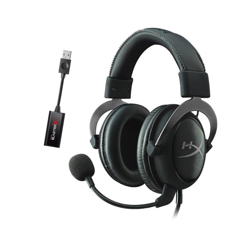 ชุดหูฟังเล่นเกม HyperX Cloud II + Creative G1