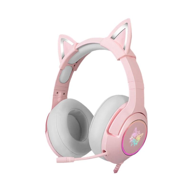 หูฟัง Onikuma K9 Pink 3.5 Jack Gaming Headphone