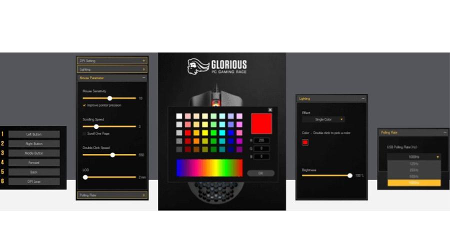 เมาส์ Glorious Model O- Minus Gaming Mouse software
