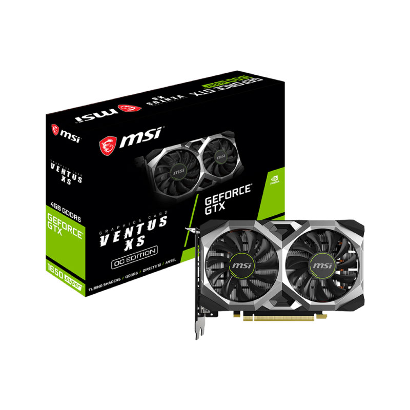การ์ดจอ MSI Geforce GTX 1650 Super Ventus XS OC 4GB GDDR6 128 Bit VGA