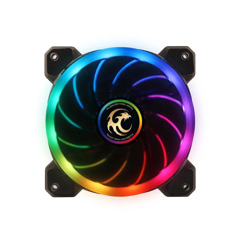 พัดลมระบายความร้อน Tsunami Dual Ring+ CRGB 12 CM