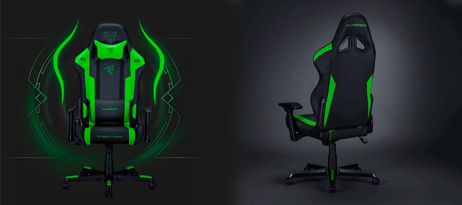 เก้าอี้เล่นเกม เก้าอี้เล่นเกม DXRacer RAZER EDITION GC-R188-NE Gaming Chair สี