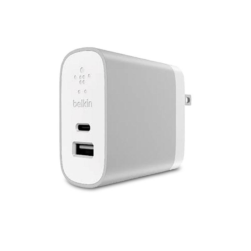 หัวชาร์จ Belkin Home Charger USB-C 27W + USB-A 12W