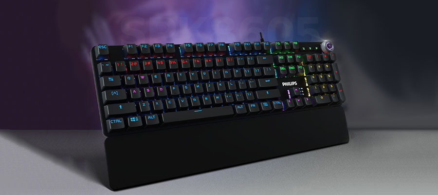 รีวิว คีย์บอร์ด Philips SPK8605 Mechanical Gaming Keyboard