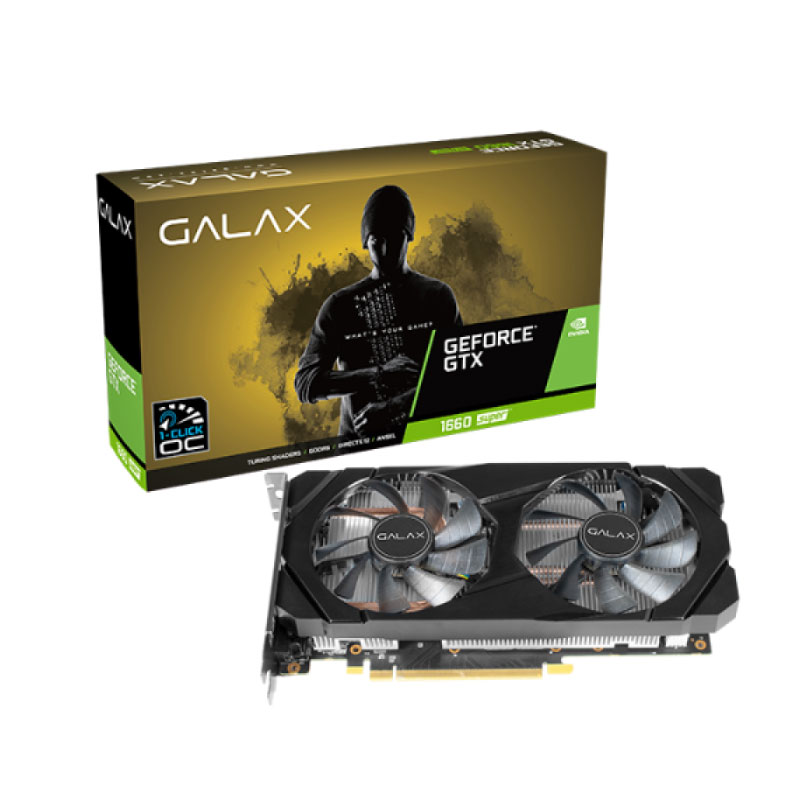 การ์ดจอ Galax Geforce GTX 1660 Super 1 Click OC 6GB GDDR6 192 Bit VGA