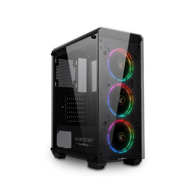 เคส Tsunami Unlimited SKY Plus Tron Computer Case