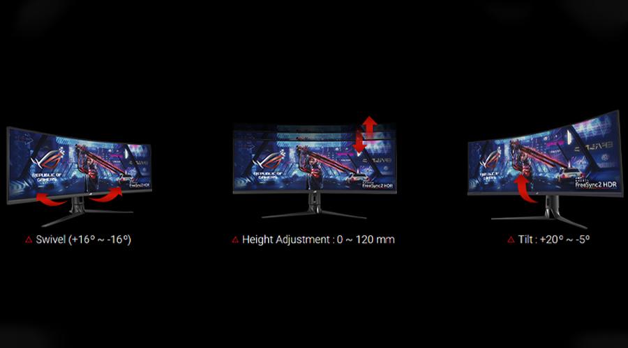 """จอคอม Asus ROG 43"""" VA Curved @ 120Hz XG43VQ Monitor ราคา"""
