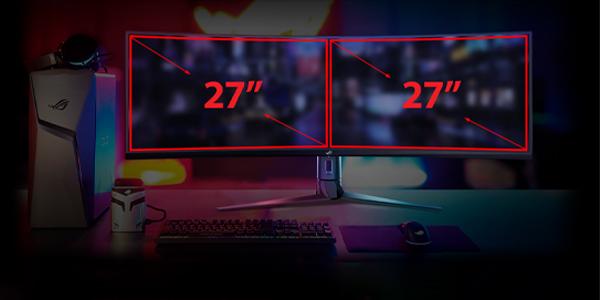 """จอคอม Asus ROG 49"""" VA Curved @ 144Hz XG49VQ Monitor ซื้อ-ขาย"""