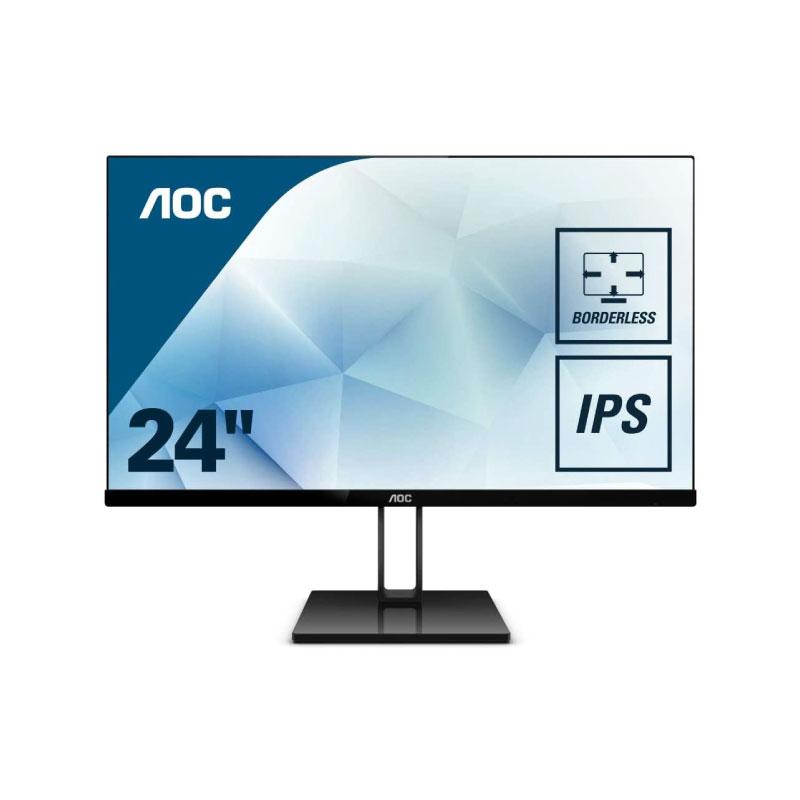 """จอคอม AOC 24V2Q 23.8"""" IPS Monitor 75Hz"""
