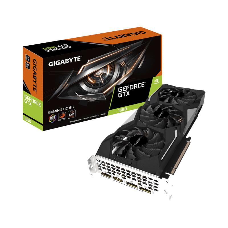 การ์ดจอ Gigabyte Geforce GTX 1660 Gaming OC 6GB GDDR5 192 Bit VGA