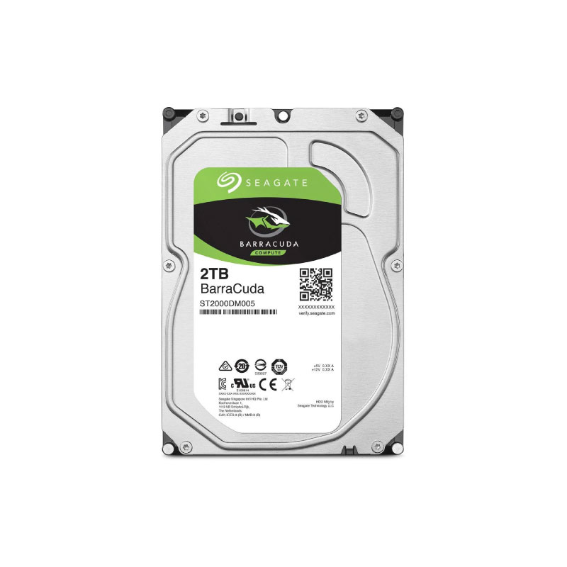 Seagate BarraCuda HDD 2TB 5400 RPM Harddisk