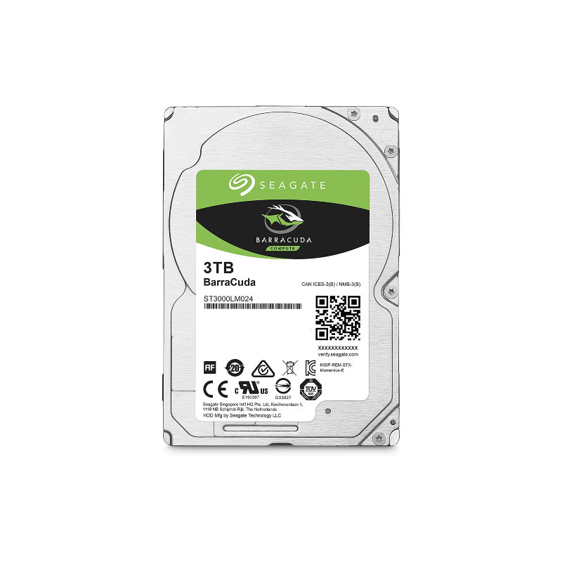 Seagate BarraCuda HDD 3TB 5400 RPM Harddisk
