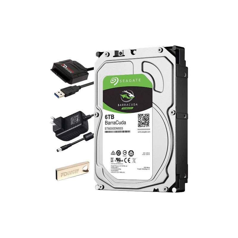 Seagate BarraCuda HDD 6TB 5400 RPM Harddisk