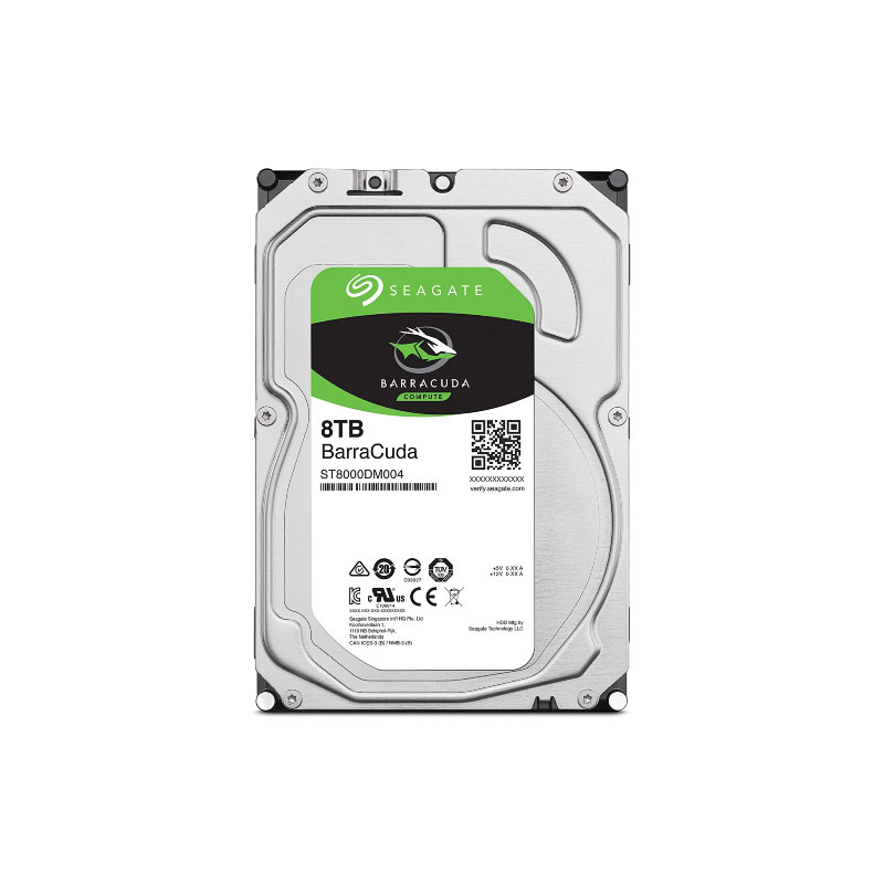 Seagate BarraCuda HDD 8TB 5400 RPM Harddisk