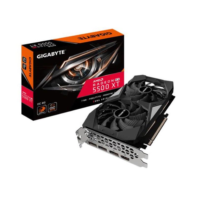 การ์ดจอ Gigabyte Radeon RX 5500 XT OC 8GB GDDR6 128 Bit VGA