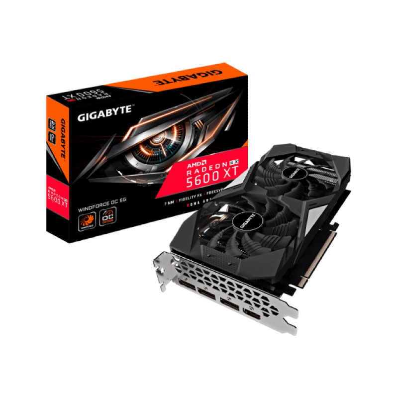 การ์ดจอ Gigabyte Radeon RX 5600 XT Windforce OC 6GB GDDR6 192 Bit VGA