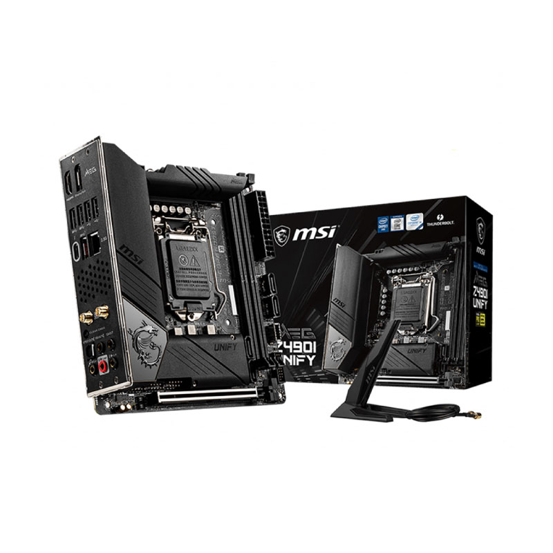 เมนบอร์ด MSI MAG Z490I UNIFY Mainboard