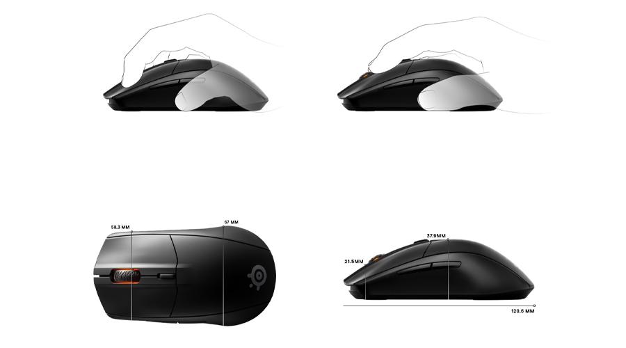 เมาส์ SteelSeries Rival 3 Wireless Gaming Mouse ราคา