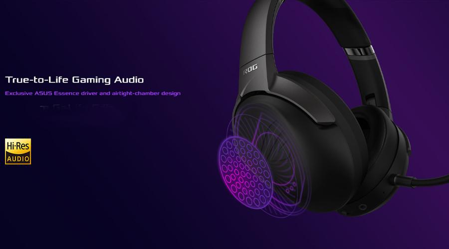 หูฟังไร้สาย Asus ROG Strix GO 2.4 Wireless Gaming Headphone เสียง