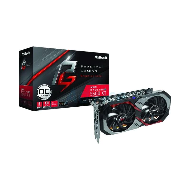 การ์ดจอ Asrock Radeon RX 5600XT PHANTOM GAMING D2 6GB GDDR6 192Bit