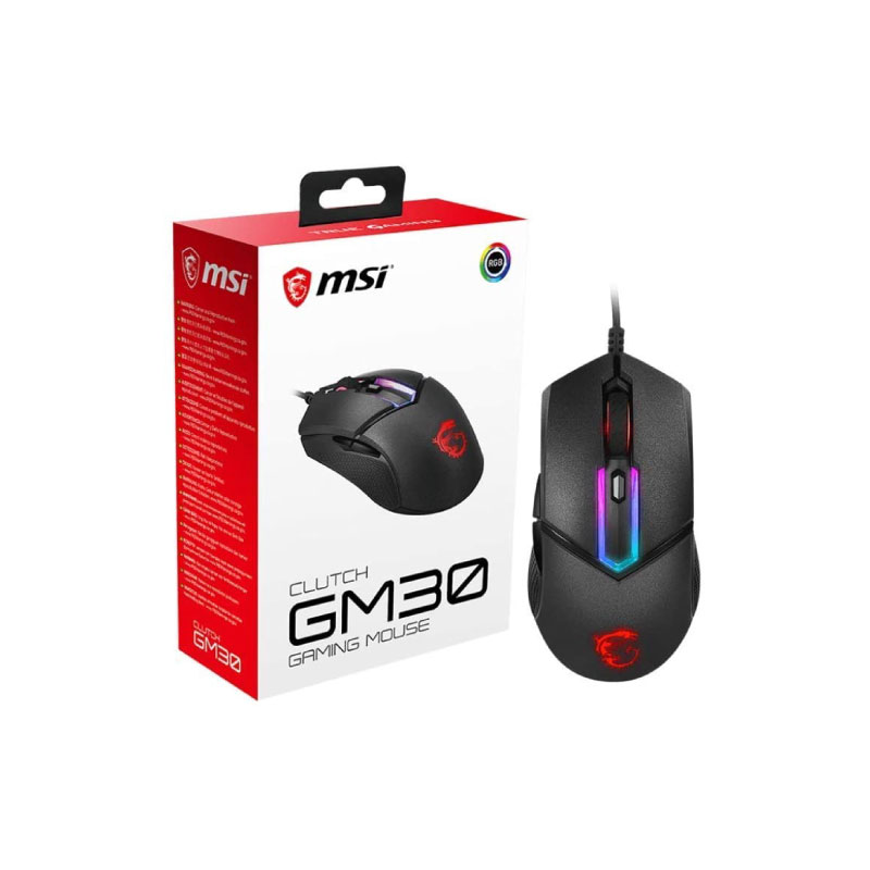 เมาส์ MSI Clutch GM30 Gaming Mouse