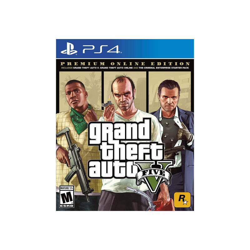 PS4 GRAND THEFT AUTO V PREMIUM ONLINE EDITION (ASIA) Game Console