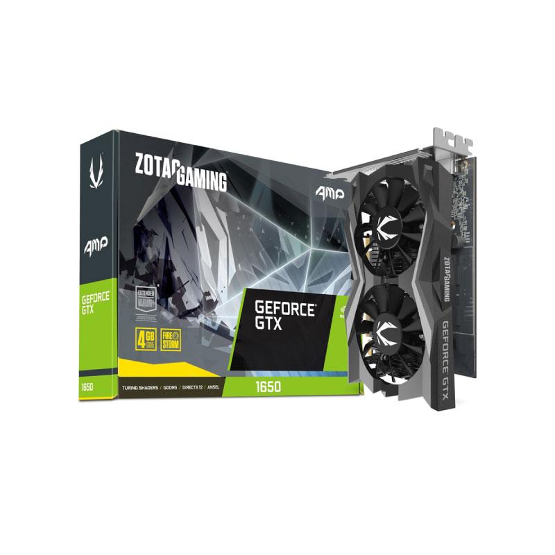 การ์ดจอ Zotac Geforce GTX 1650 AMP 4 GB GDDR6 128 Bit VGA