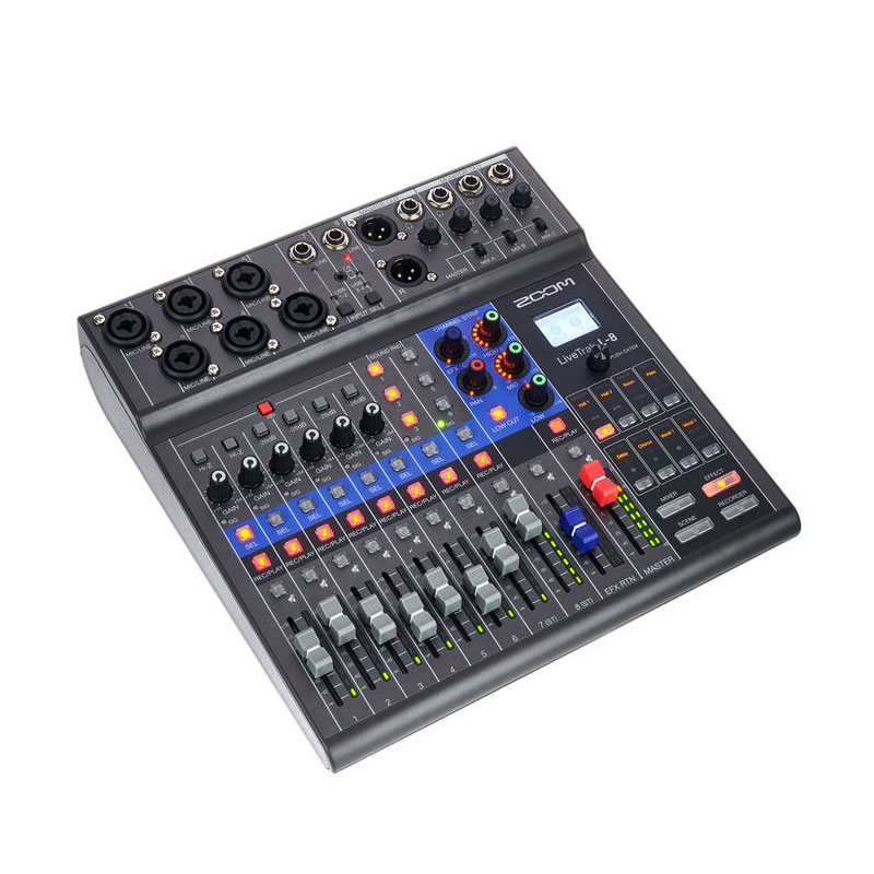 Zoom L-8 Compact Podcast Mixer, Audio Interface and Recorder