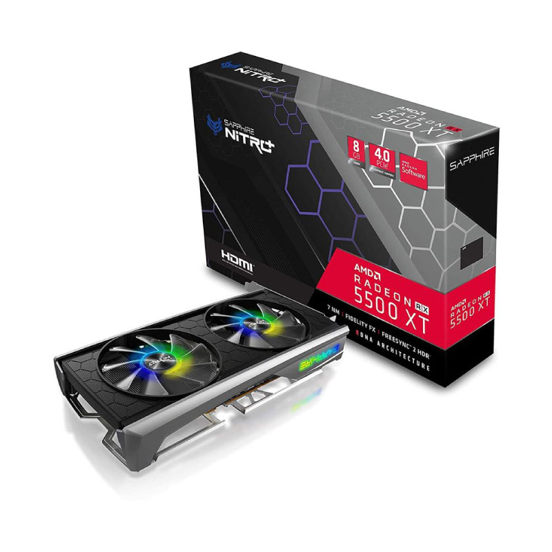 การ์ดจอ Sapphire Nitro+ Radeon RX 5500 XT 8GB GDDR6 VGA