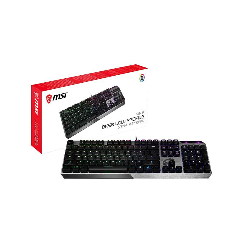 คีย์บอร์ด MSI Vigor GK50 Low Profile US Keyboard