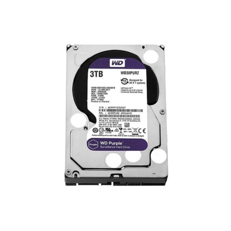 ฮาร์ดดิสก์ WD 3 TB AV WD30PURZ Purple Harddisk