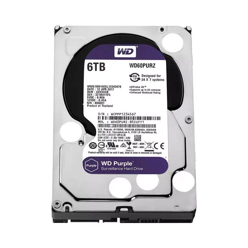 ฮาร์ดดิสก์ WD 6 TB AV WD60PURZ Purple Harddisk