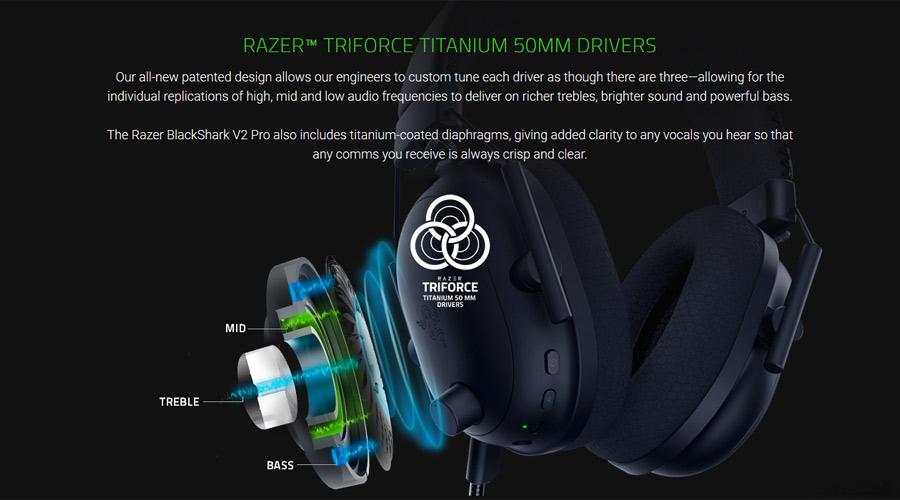 หูฟังไร้สาย Razer BlackShark V2 Pro Wireless Gaming Headphone เสียงดี