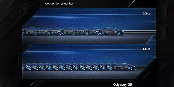 """จอคอม Samsung Odyssey G5 32"""" Curved @144Hz Monitor คมชัด"""